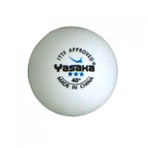 Yasaka table tennis balls cell free 40 three star white x 3 for 1 star table tennis balls